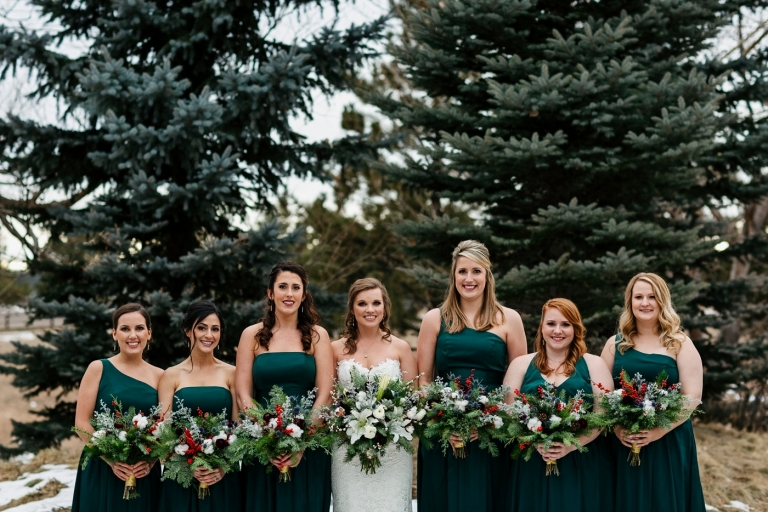 dark green bridesmaids dresses