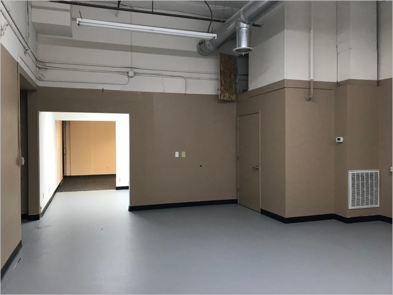 open warehouse space for a floral design studio