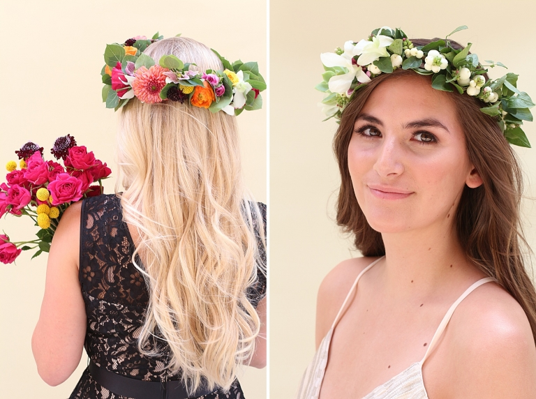 colorful flower crowns
