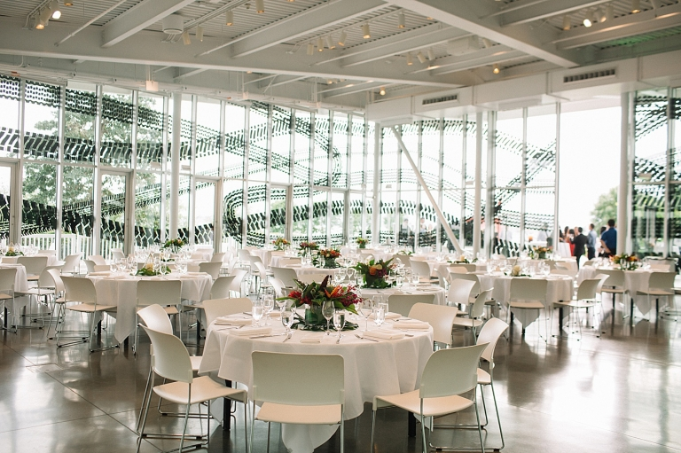 wedding reception at Olympic Sculpture Park in Seattle