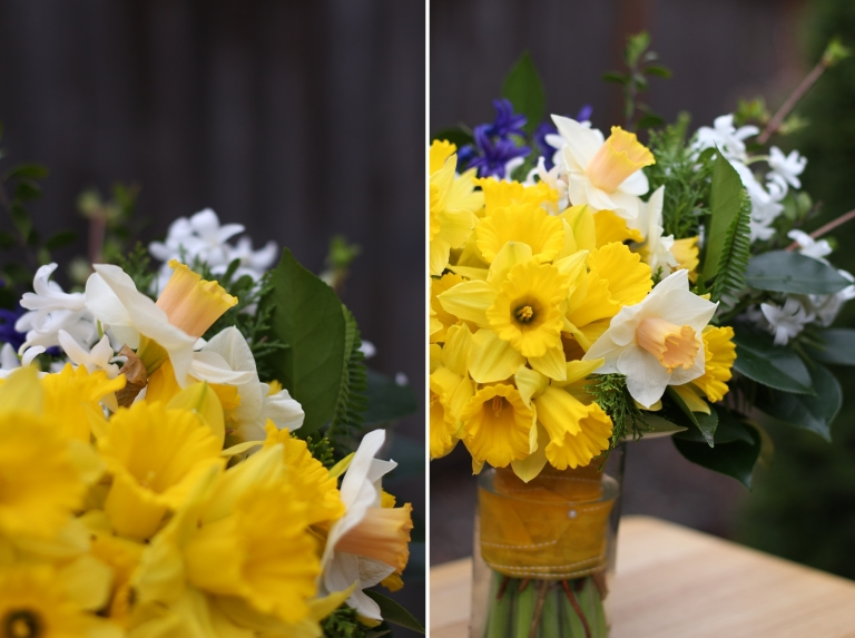 yellow daffodils in a bouquet