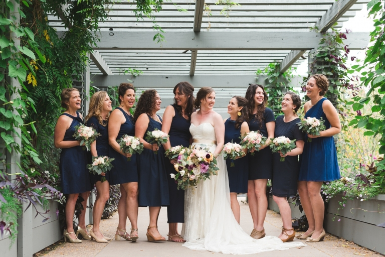 bridal party with gorgeous bouquets
